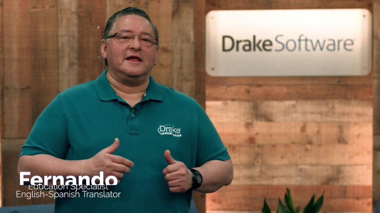 2017 drake software classroom training in spanish youtube for Drake program