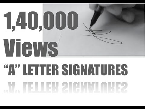 """Draw a Stylish Signature starting with letter """"A"""" , 6 Styles of letter """"A"""""""