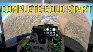 A Complete Cold Start - A10C Warthog Simulator