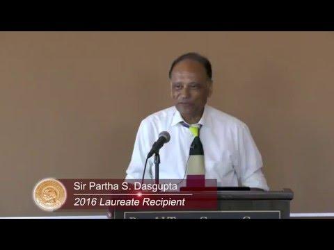 2016 Tyler Prize Laureate Lecture: Sir Partha S. Dasgupta