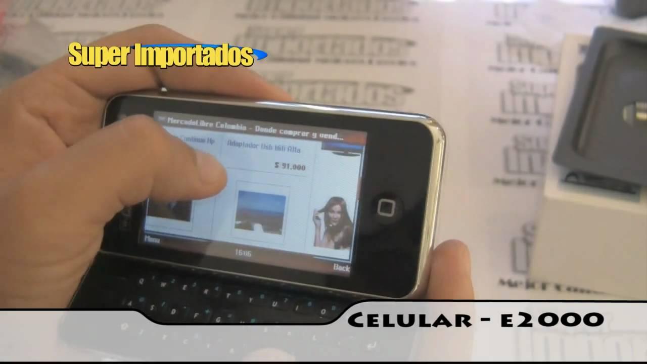 Celular E2000 Wifi, Teclado Deslizable, Doble Sim (dual