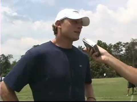 Chad Pennington and Laveranues Coles talk about camp