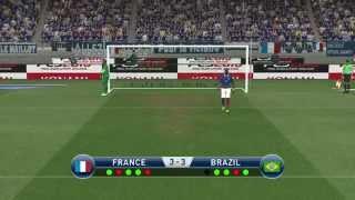 """Penalty Shootout """"BRAZIL vs FRANCE"""" """"International cup:knockout stage""""   PES 2015"""