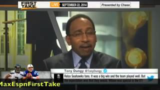 First Take   Is Russell Wilson Better Than Andrew Luck !