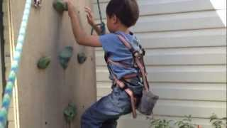 Caleb Lead Climbing for the First time at 6 years old