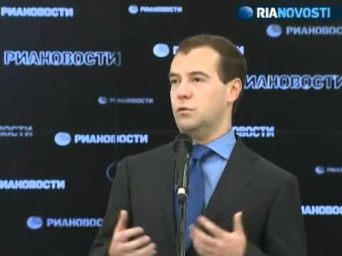 Medvedev congratulates RIA Novosti on 70th anniversary
