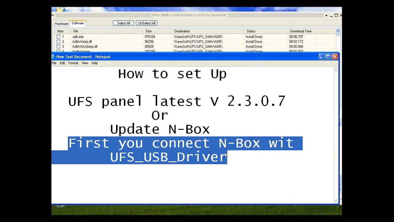 download driver ufs-nbox sarassoft