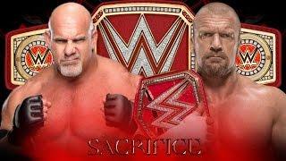 Goldberg vs Triple H for Championship