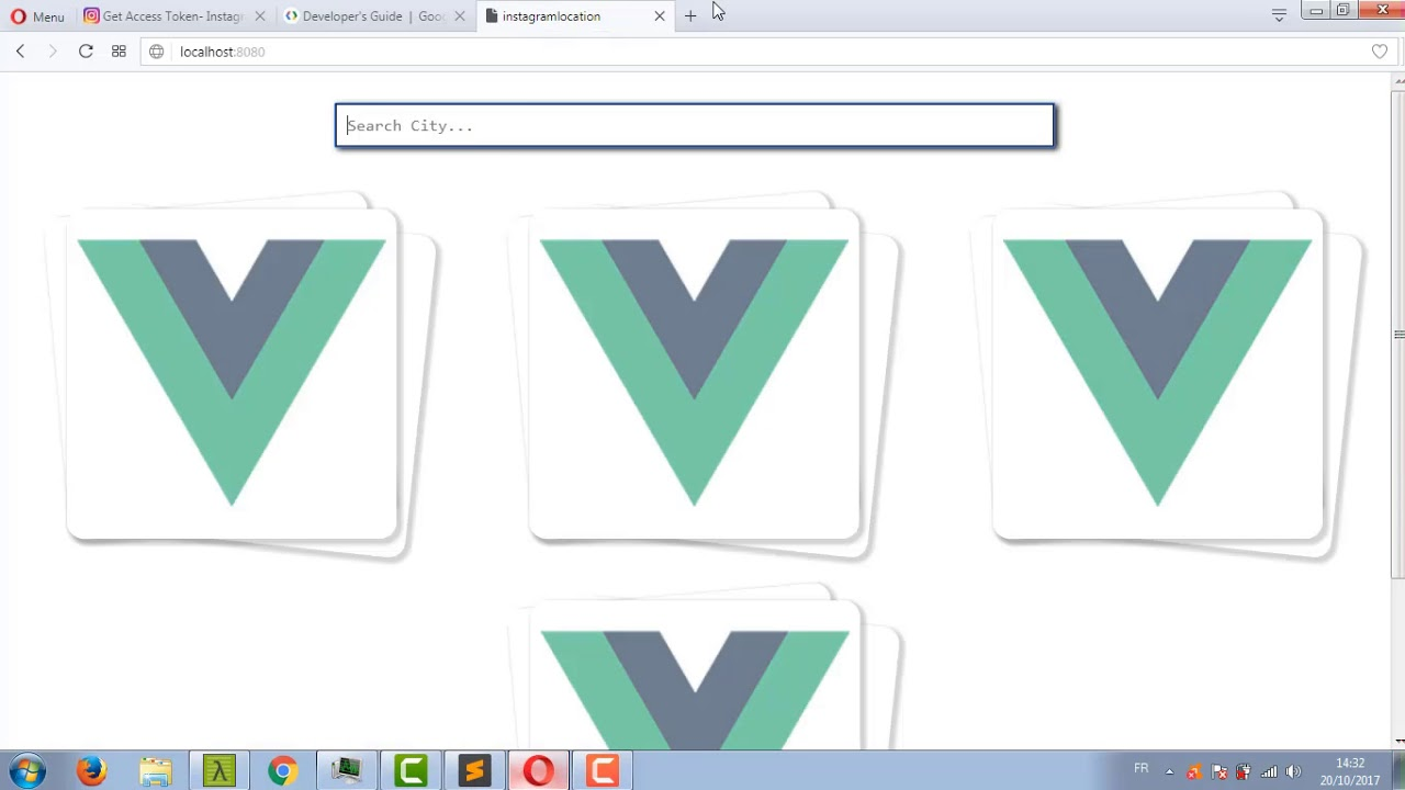 View Photos from Specific Locations using Vue js 2, Vuex, instagram API,  Google Geolocation Api