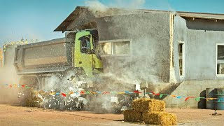10 Most Crazy, Dangerous & Idiots Driving in Truck and Ships Fails Working