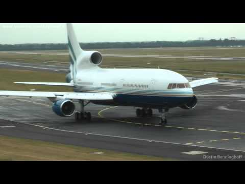 Las Vegas Sands Corp. - L1011 Tristar *N388LS* / takeoff at Dusseldorf *23L* - AWESOME SOUND