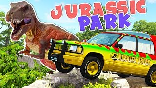 JURASSIC PARK In BeamNG! AWESOME Map with Dinosaurs! - BeamNG Drive Mods