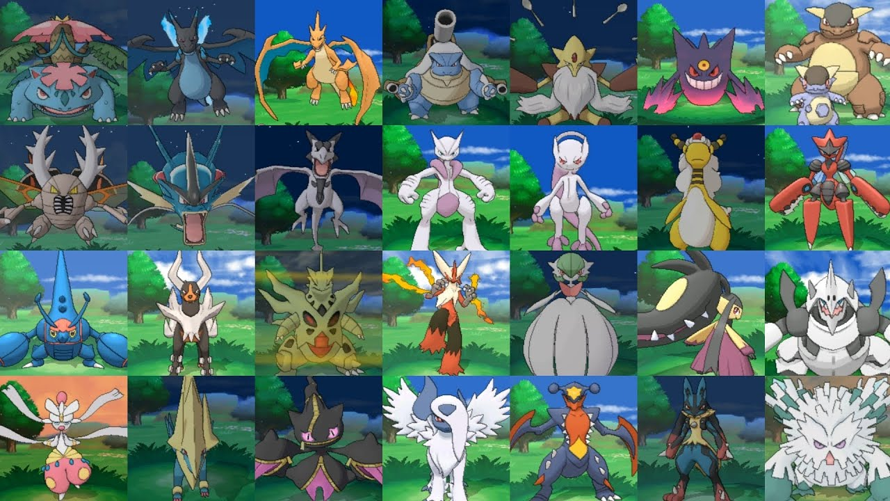 Pokemon x y alle mega entwicklungen all mega - Pokemon mega evolution y ...
