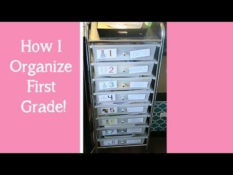 First Grade Homeschol Organization (workboxes, morning time)