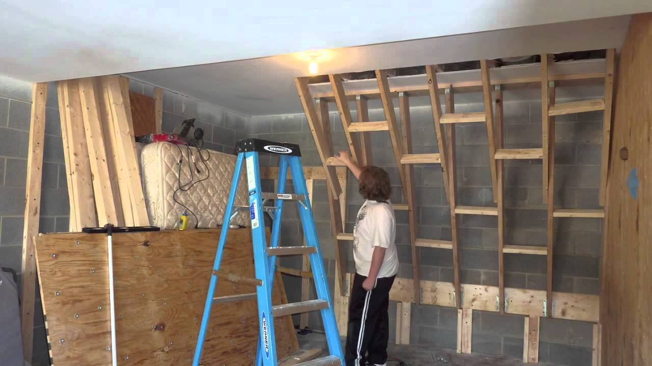 Perfect Home Climbing Wall Construction 2   YouTube