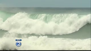High surf shuts down Kamehameha Hwy. along Oahu's North Shore