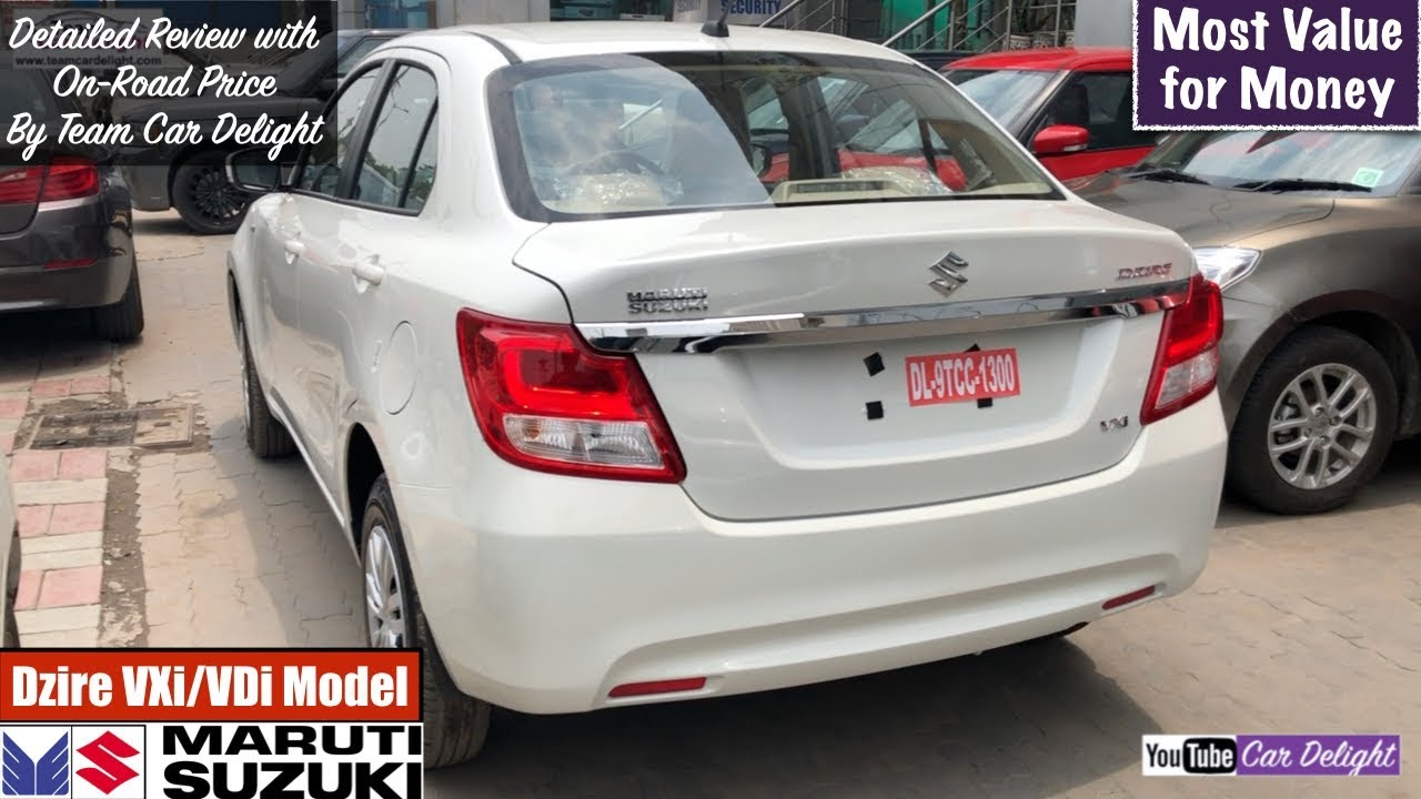 Maruti Dzire 2018 Vxi Vdi Model Detailed Review With On Road Price