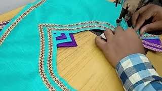 very simple and easy model blouse cutting and stitching # pattern 85  # tailoring spot