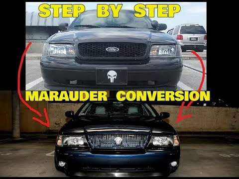 Converting A Crown Victoria To Mercury Marauder Part 1 Of 3 Header Pannel And Grill Install