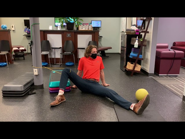 Seated Unilateral Bent Knee Hip Internal Rotation
