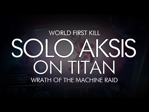 Destiny - Solo Aksis on Titan Kill