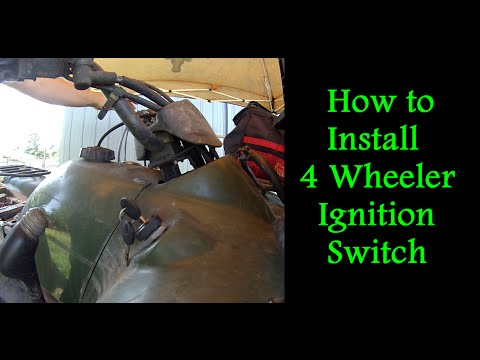 suzuki eiger 400 4x4 wiring diagram 2005 chevy cobalt starter how to replace the ignition switch on a 4 wheeler youtube
