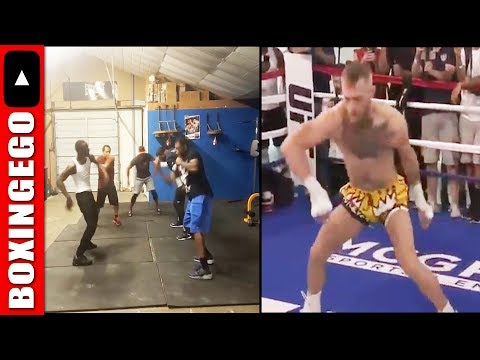 Terence Crawford ROASTS Conor McGregor WARMUP DRILL with FUNNY #McGregorChallenge PARODY