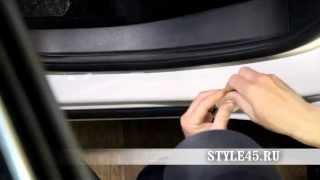 Наклейка на пороги для Opel Astra (Опель Астра)
