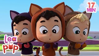 Three Little Kittens + More Educational KIDS Songs |  Lea and Pop