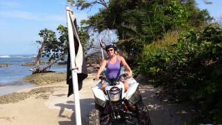 """Taking quads off the beaten path in Isla Colon (Bocas Town), Bocas Del Toro"""