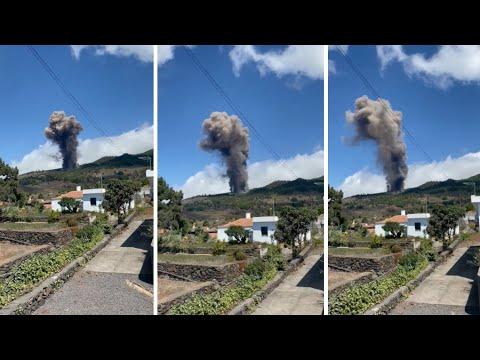 💥🌋ASÍ comenzó la ERUPCIÓN del Volcán en La Palma🌋💥 Cumbre Vieja en Canarias ⬜🟦🟡