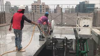 禾盛工程行  35P道路切割機  樓板切割 分切  配合推高機作業