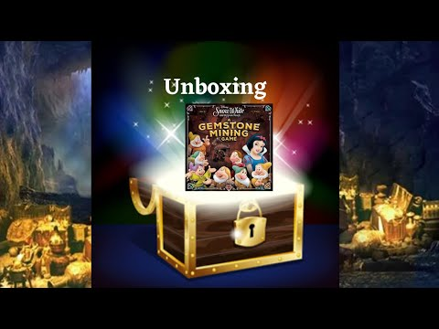 Unboxing: Snow White And The Seven Dwarfs: A Gemstone Mining Game