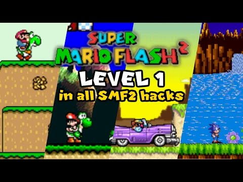 Super Mario Flash 2 Level 1 (1-Player Mode) in all SMF2 hacks