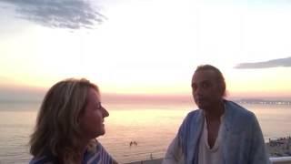 Aferdita Zaja with Vedic Master Prashant Trivedi, Durres, Albania