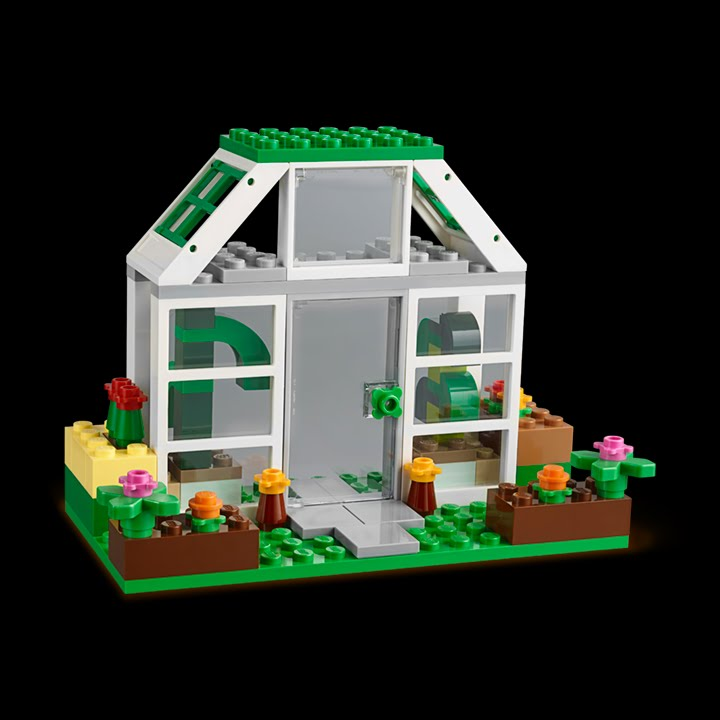 Green house how to build lego classic 10705 youtube for How to make house green