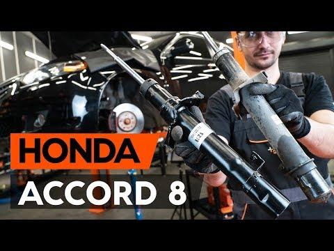 Как заменить стойку амортизатора передней подвески наHONDA ACCORD 8 (CU2) [TUTORIAL AUTODOC]