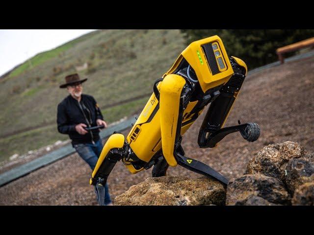 Adam Savage Tests Boston Dynamics' Spot Robot!