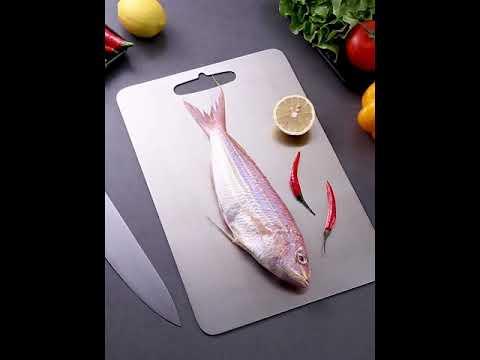 304不鏽鋼砧板-大 菜板 不銹鋼菜板鑽板 切菜板不掉屑 擀麵板 解凍砧板-輕居家8294