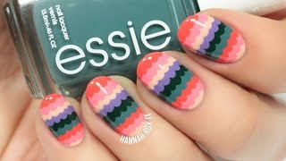 Cute Spring Scalloped Nail Art (easy for beginners!)