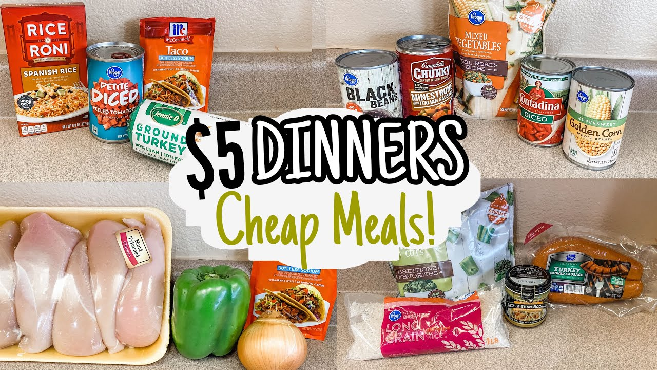 DINNERS | FIVE Quick & Easy Cheap Meals | Julia Pacheco