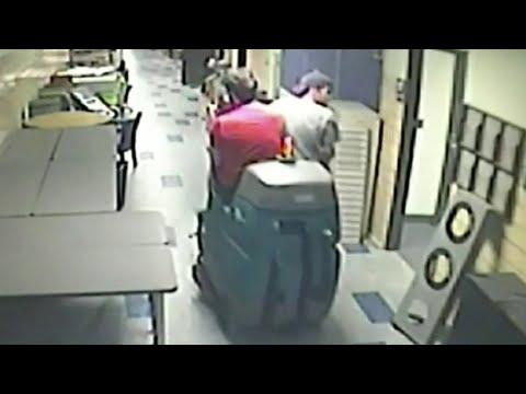Floor cleaner joyriders sought after Troy school break-in