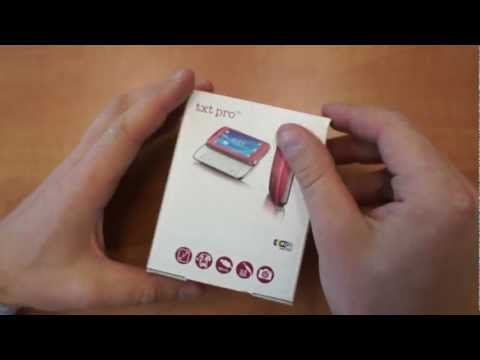 Sony Ericsson txt pro unboxing (rus.)