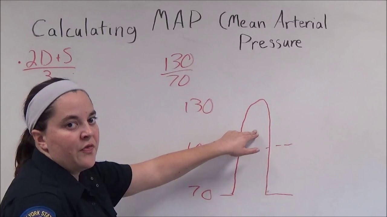 Calculating Map Mean Arterial Pressure Youtube