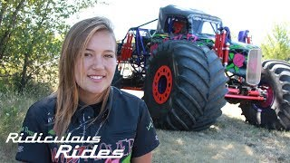 America's Youngest Pro Female Monster Truck Driver | RIDICULOUS RIDES