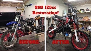 SSR 125cc Dirt Bike Restoration! Complete rebuild!