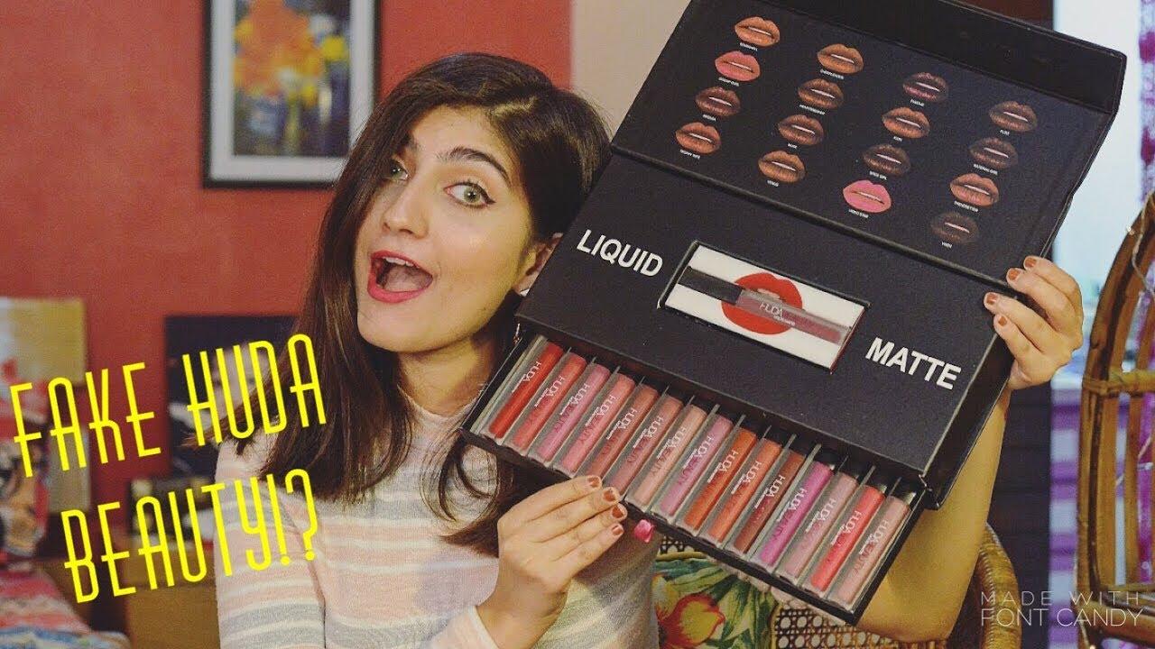 Testing Fake Huda Beauty Liquid Matte Lipsticks Anushae Says