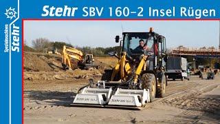Stehr SBV 160-2 Plattenverdichter / Cat 908 Radlader - Einsatz Insel Rügen