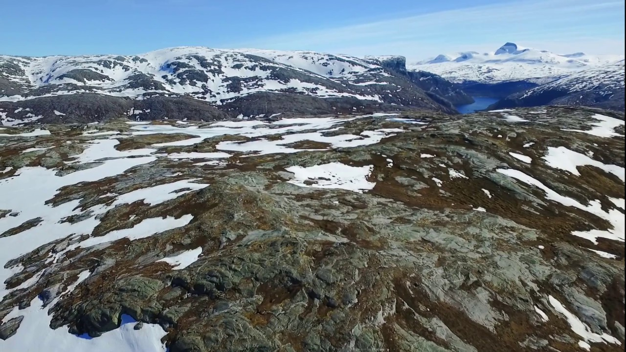 Drone video of Blåfjell mountain