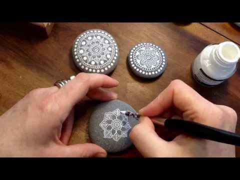 Mandala Painted Stone by MagaMerlina - Mandala Painted Pebble.